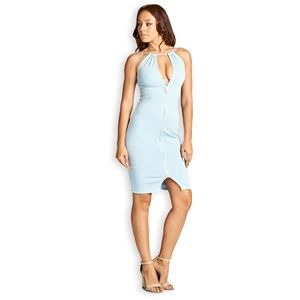 Bodycon Light Blue Dress